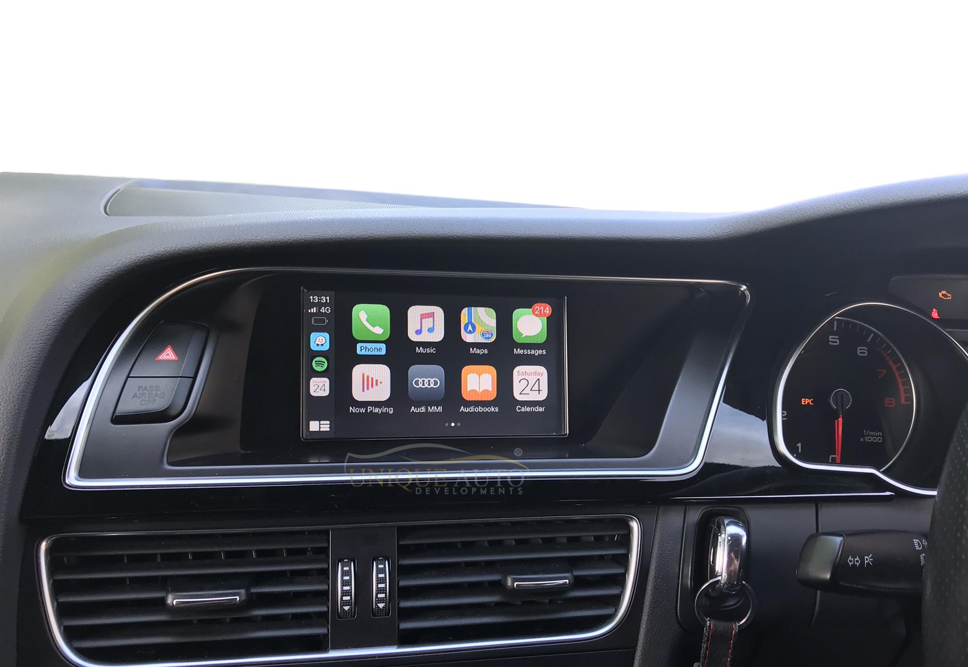 Wireless Apple Carplay Android Auto Retrofit Kit Audi A4 A5 B8 2008 2016 Unique Auto Developments