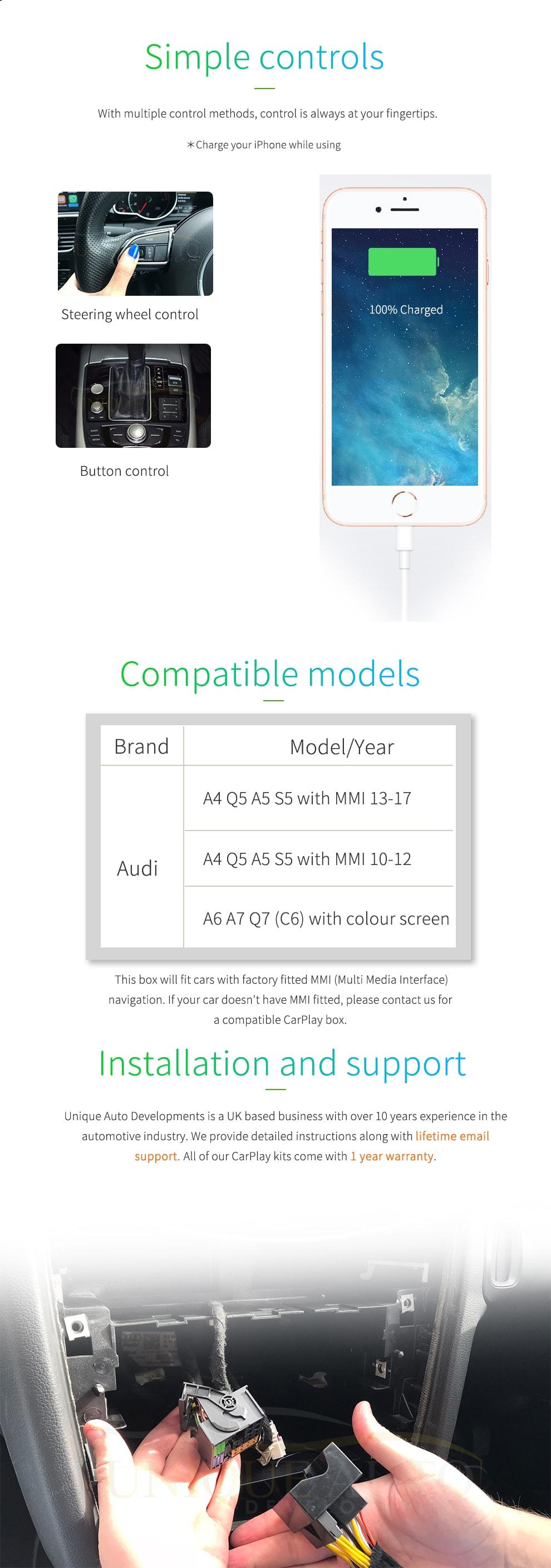 Carplay Navigation Audi A6 C6 Q7 2009 2011 Gps Mmi Unique Auto Wiring Diagram Key Advantages Of The Developments Kit Include
