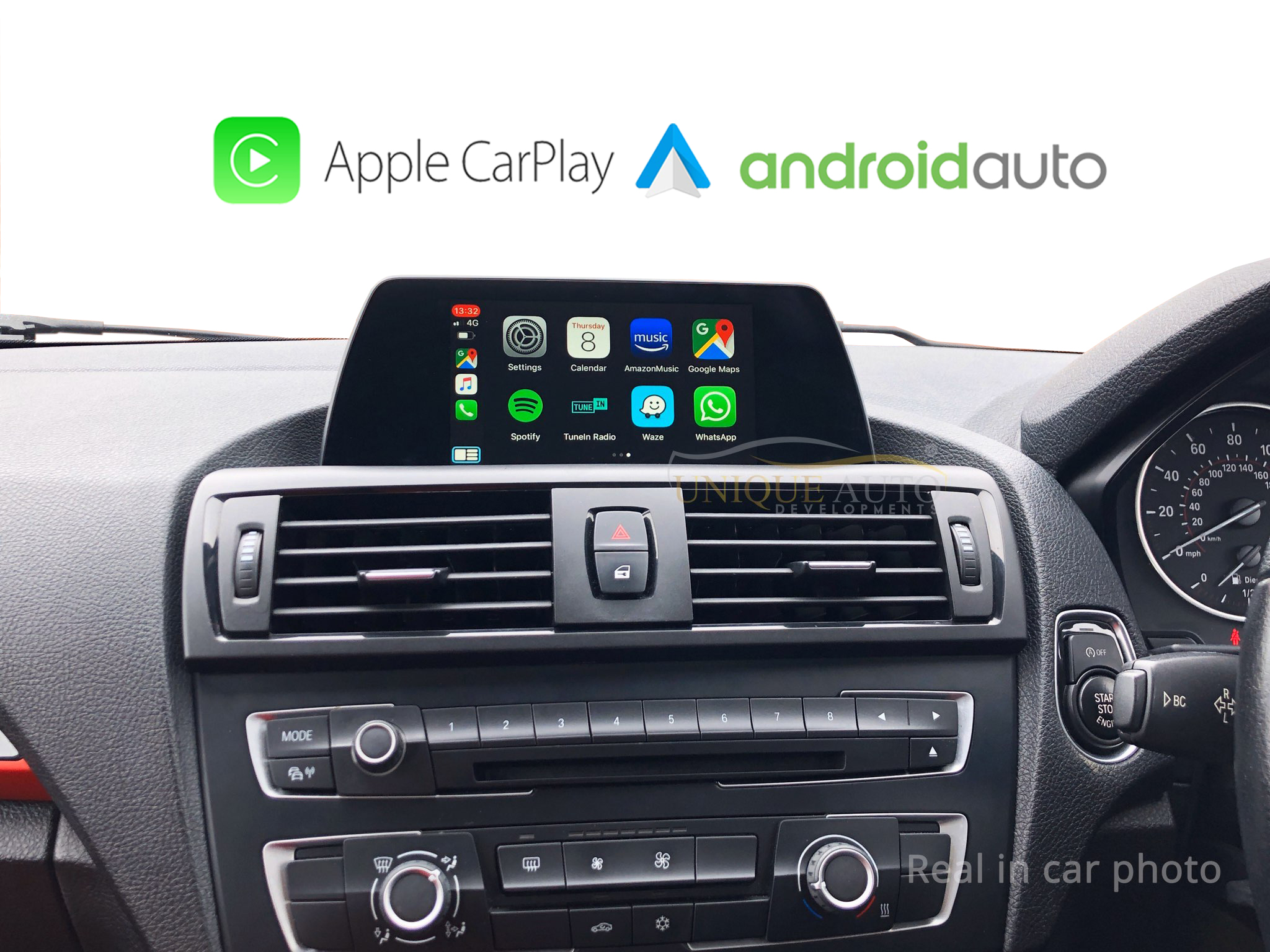 Wireless Apple Carplay Android Auto Nbt Evo F10 F20 F30 1 2 3 4 5 X1 X2 Series 2017 2019 With 6 5 Screen Navigation Camera Interface Unique Auto Developments