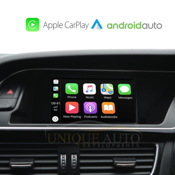 Wireless Apple CarPlay wired Android Auto Retrofit for Audi A4 A5 S5 A6 S6  Q7 A8 S8 MMI 2G high 2005-2009