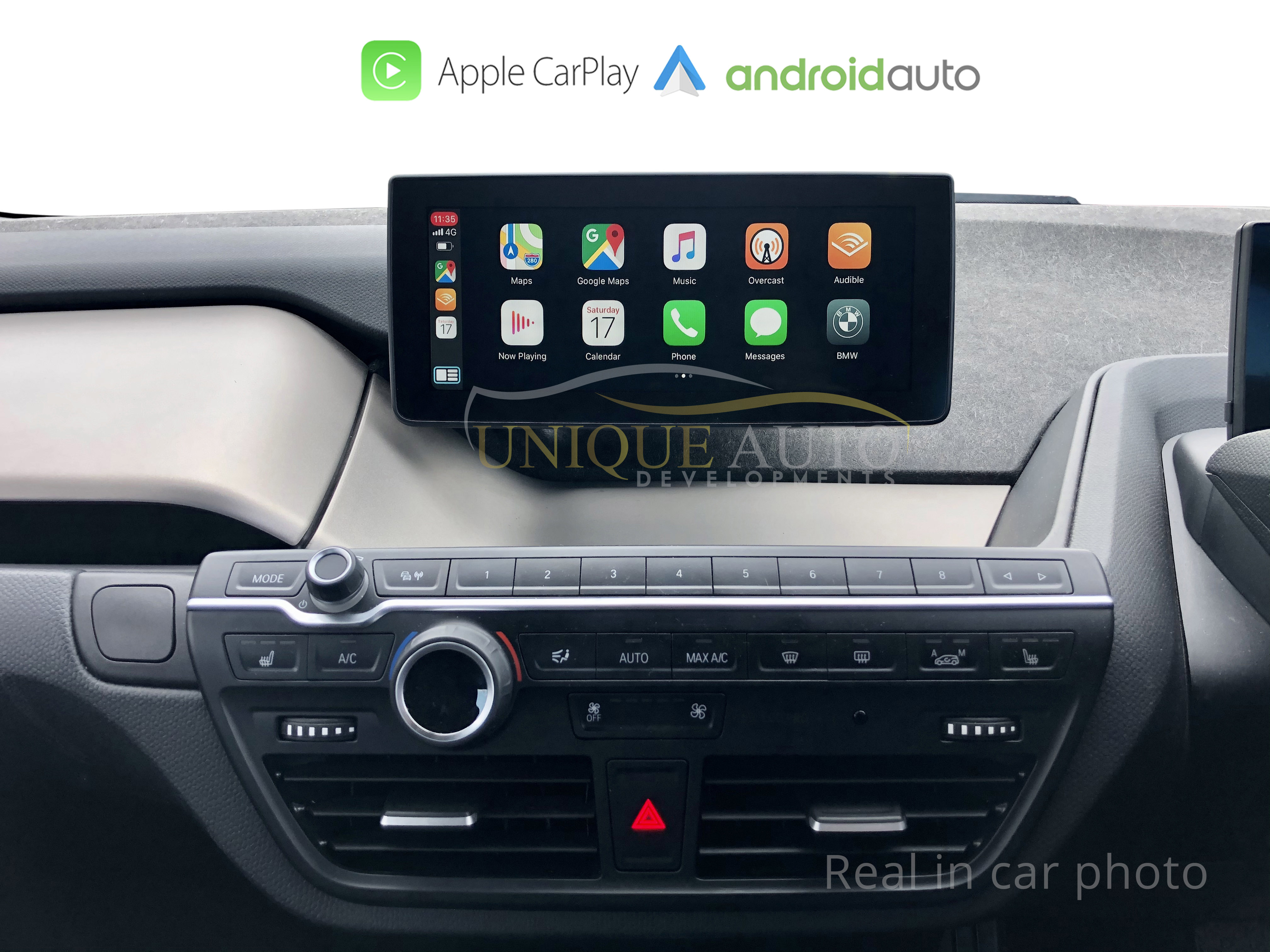 WIRELESS Apple CARPLAY Android Auto BMW i3 NBT WIDESCREEN 6 5