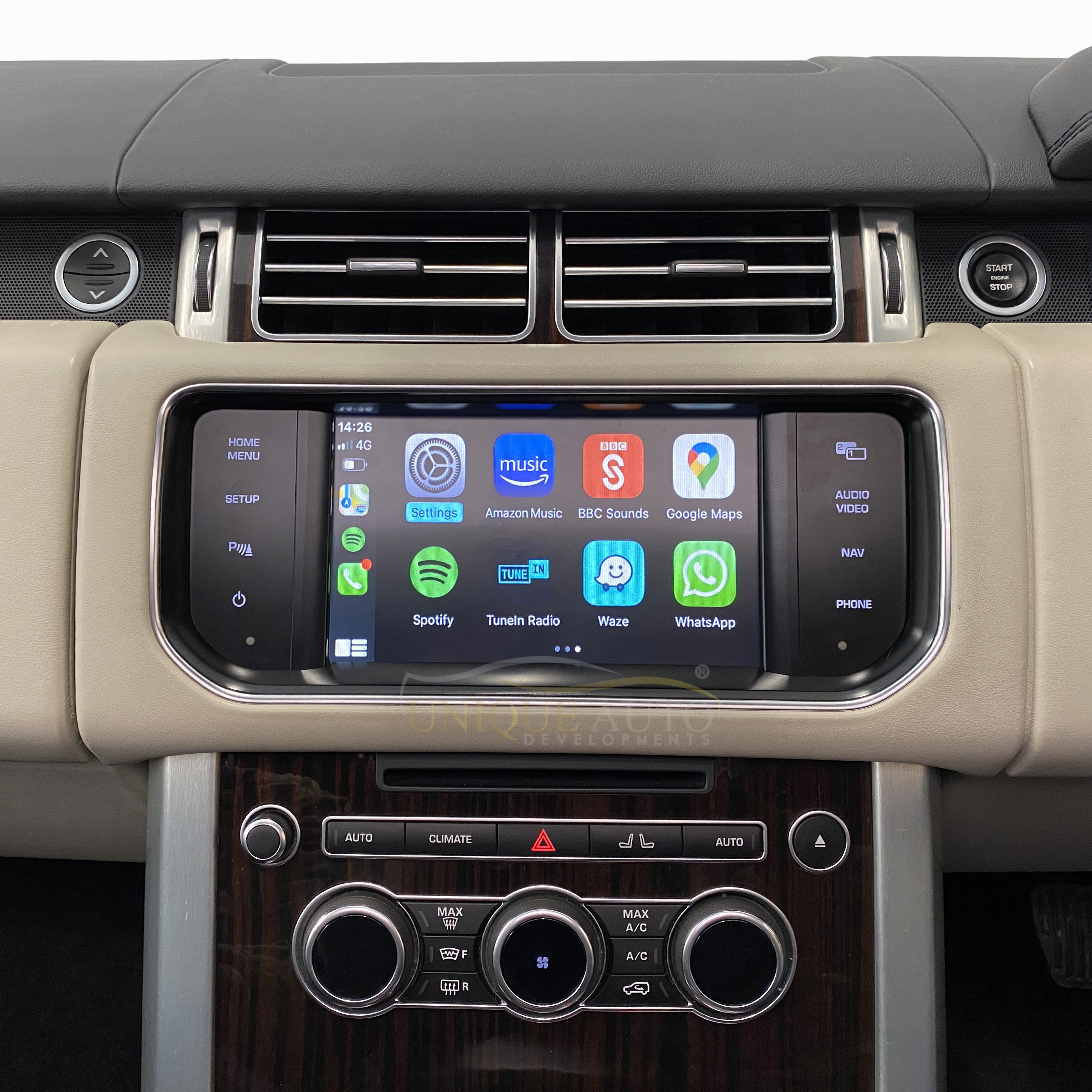 apple carplay range rover evoque