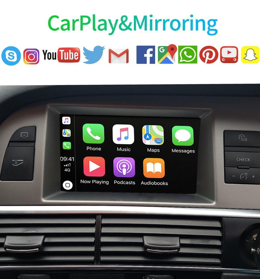carplay navigation audi a6 c6 q7 2009 2011 gps mmi. Black Bedroom Furniture Sets. Home Design Ideas