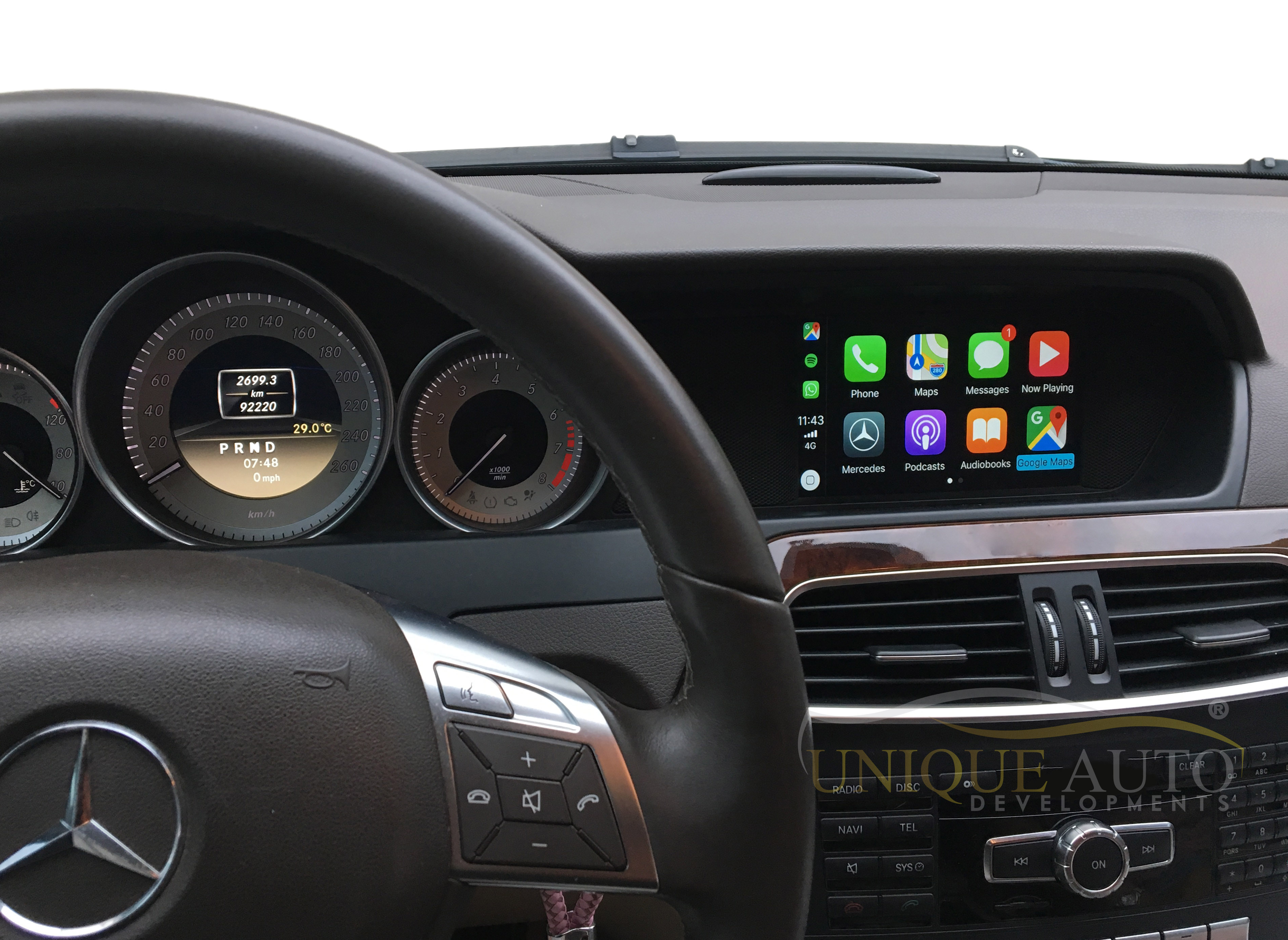wireless carplay interface for mercedes a class c class e. Black Bedroom Furniture Sets. Home Design Ideas